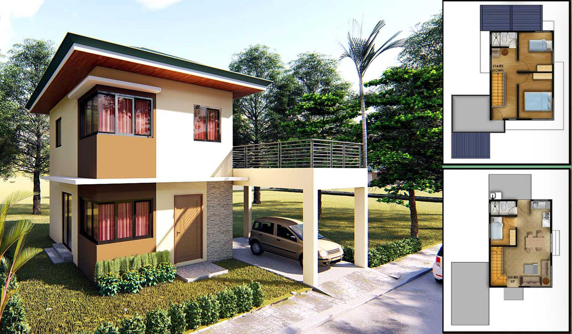 Diamond Heights house model Pearl Expanded located at Lipa City Batangas