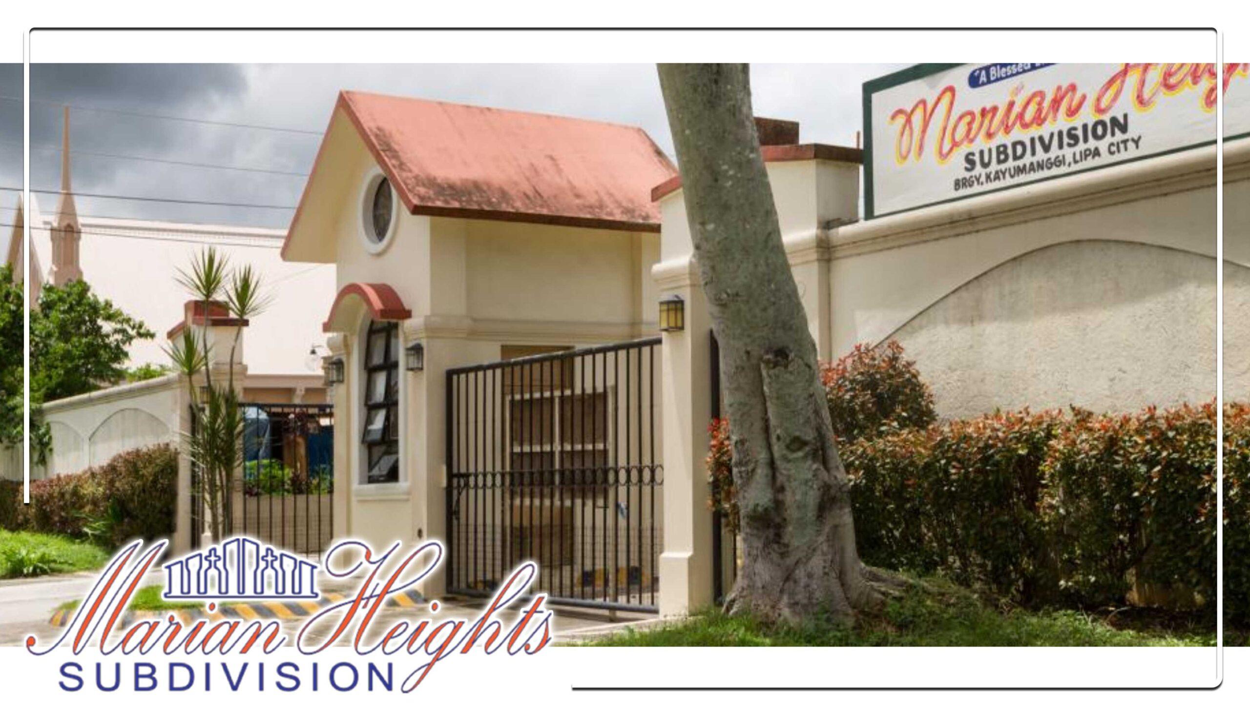 marian heights subdivision in lipa city batangas